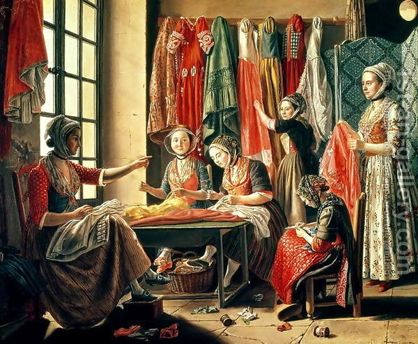 Raspal, Antoine, The Couturier's Workshop, 1760