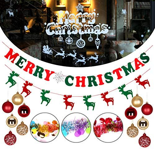 Atopsell 19 Pcs Christmas Decoration Set Christmas Party Decoration For Outdoor Indoor Xmas Par Diy Party Favors Party Favor Supplies New Years Eve Decorations