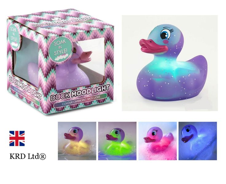 Colour Changing PURPLE RUBBER DUCK Bath Toy Bathroom Mood Light Baby Shower Gift | eBay
