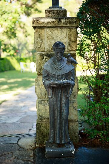 St Francis - Patron Saint of Animals Photo from Evergreen Garden Wedding collection by Infinity Faith Photography