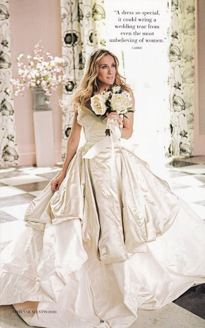 Vivienne westwood wedding dress featured in satc yes for Sarah jessica parker wedding dress