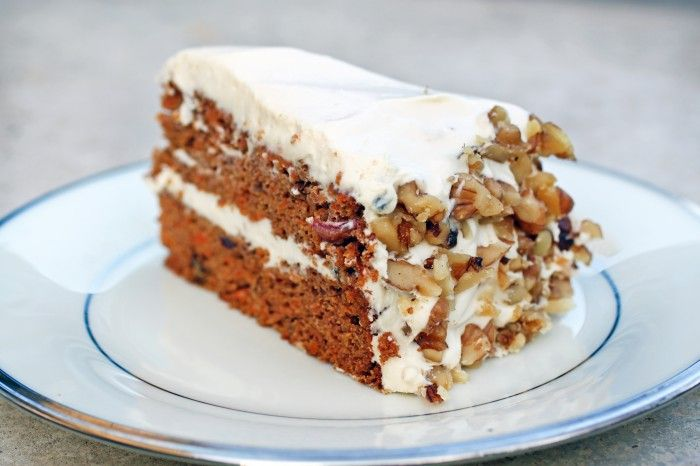 THE BEST carrot cake pretty much ever.  (Read the reviews for information on how to make the dates into paste.)