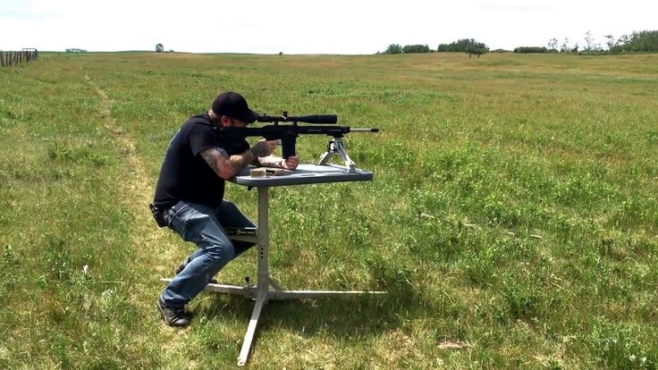 Bud testing out his new 308 Tactical
