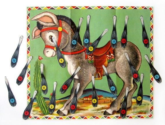 Pin the Tail on the Donkey.  I would swear this is the same exact one that I remember playing at birthday parties too!  I loved that game!