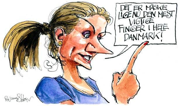 Der er længe blevet spekuleret over, hvornår statministeren ville udskrive valget. Tegning: Rasmus Sand Høyer