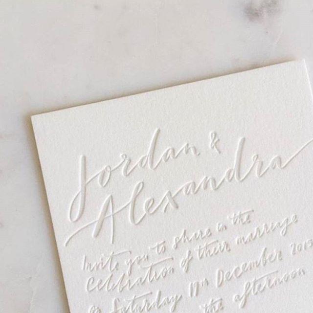 S T A T I O N E R Y // We adore this clean + crisp letterpress invite by The Little Press