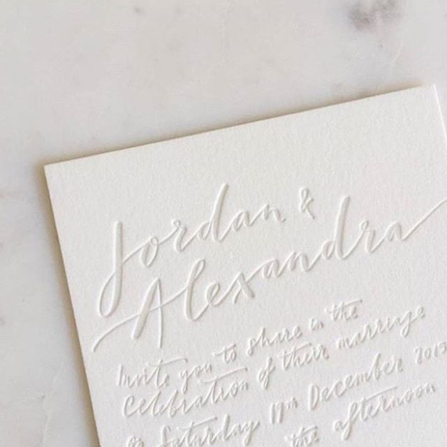 S T A T I O N E R Y // We adore this clean + crisp letterpress invite by The Little Press