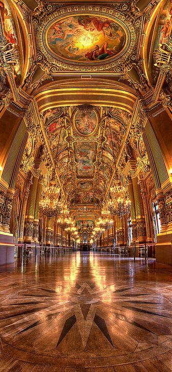 Le grand foyer  Opéra Garnier, Paris