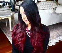 mechas californianas rojas en pelo oscuro - Saferbrowser Yahoo Image Search Results