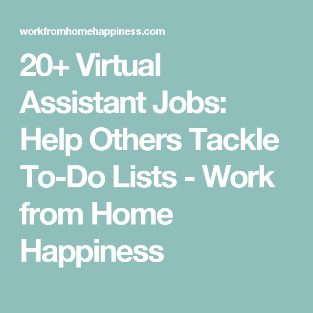 20 virtual assistant jobs