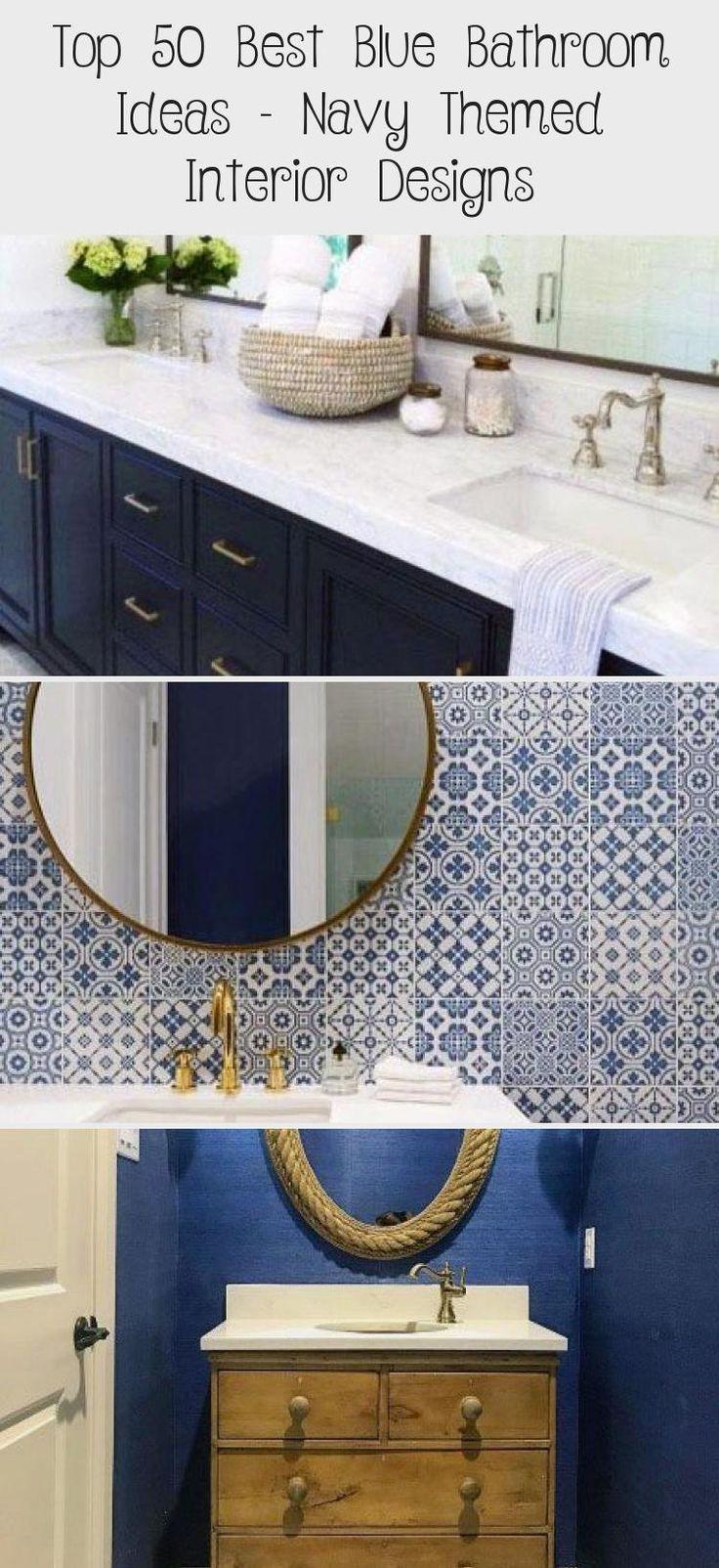 top 50 best blue bathroom ideas  navy themed interior