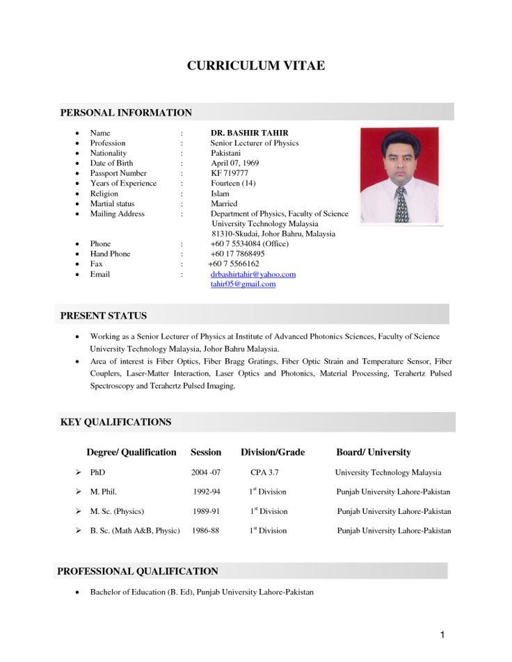 11+ Sample resume for job malaysia Format