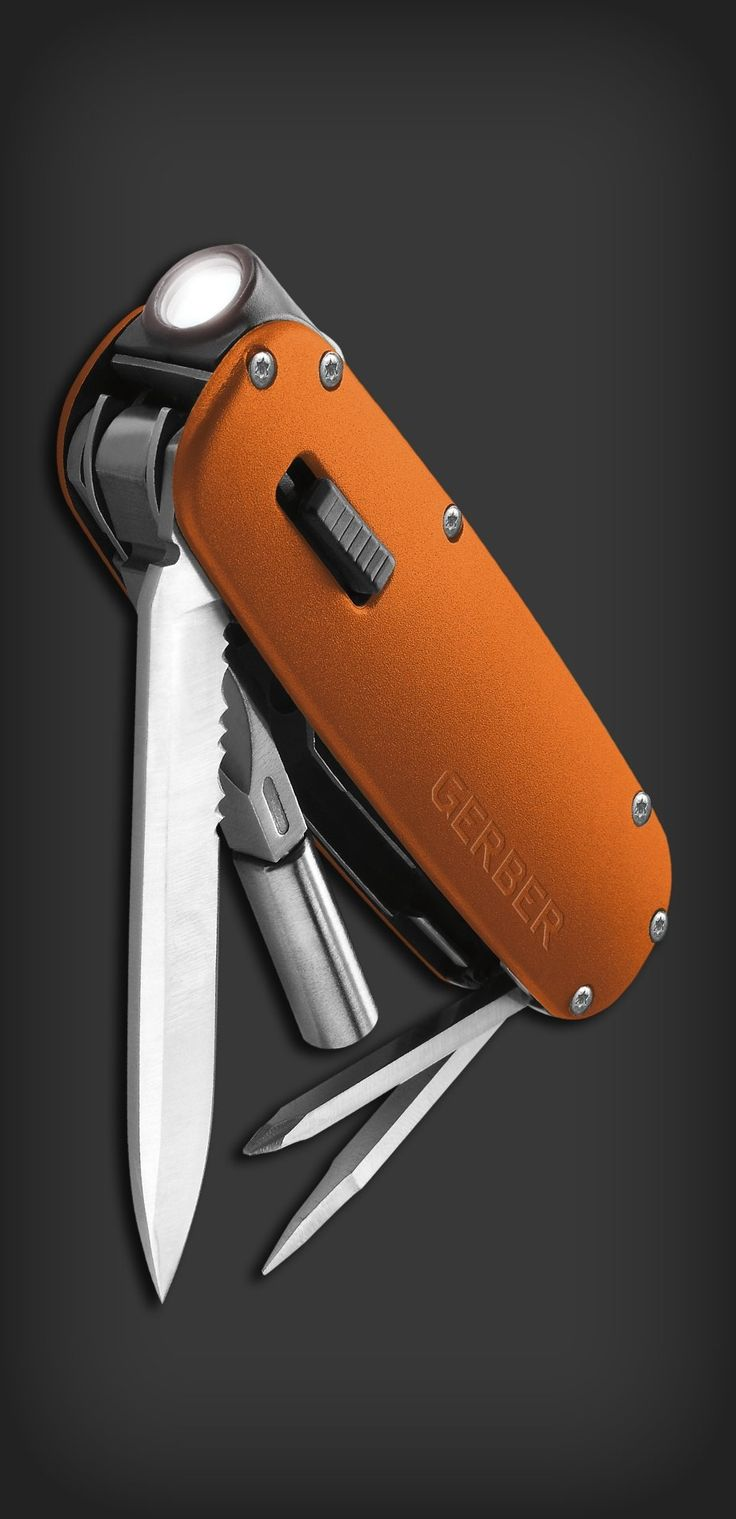 Gerber Fit Light Tool Orange Tactical Knives Swiss Army