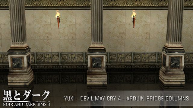 TS3 - Yuxi - Arduin Bridge Columns ~ Noir and Dark Sims