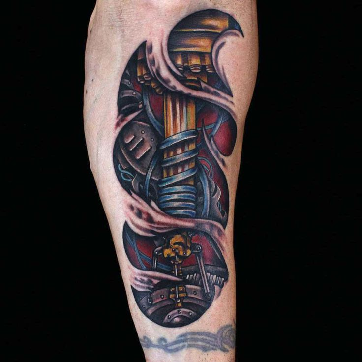 Favori Bio-mechanical tattoo by Julia Carson. Ink Master Redemption  SZ97