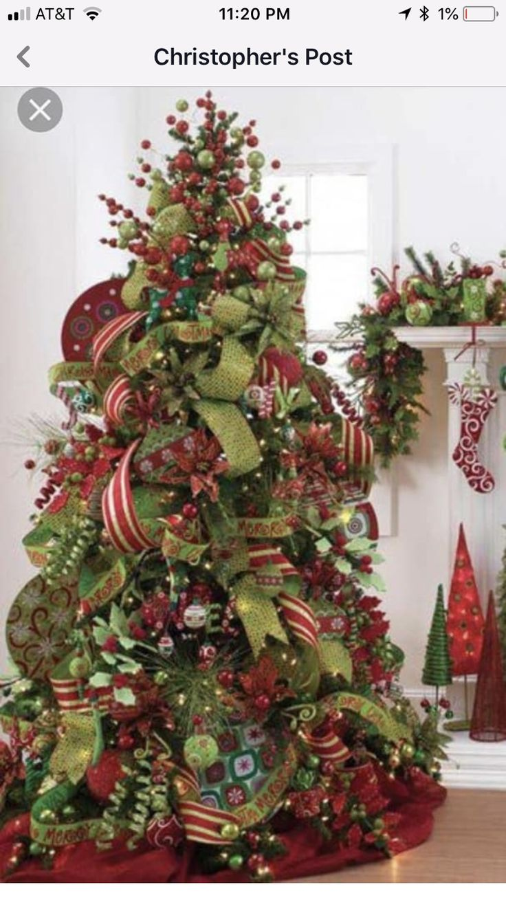 Pin by Hanne Overton on crafts Ribbon on christmas tree