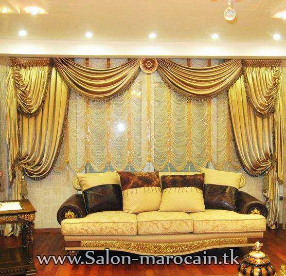 Rideaux Salon Marocain op Pinterest  Rideau Salon, Rideaux Marocain