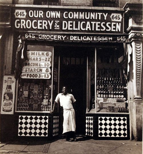 Harlem, Grocery & Delicatessen, on Lenox Ave (1930's)
