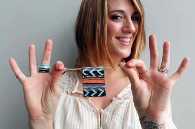 Tutorial: da riciclo cerniere collana anello e orecchini.