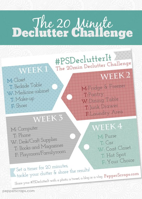 Get Organized with The 20 Minute Declutter Challenge #PSDeclutterIt