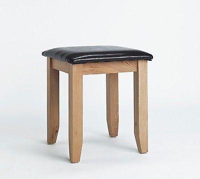 http://bask.yt/?Vp41N Sherwood Oak Stools - Luxury Dressing Table Stool - Upholstered in Dark Brown PU £69.99