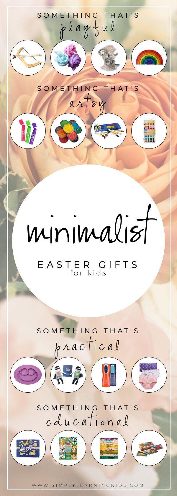 Since our family decided toembrace minimalismlast year, I've really pushed myself to come up with meaningful gifts for every holiday. We don't want to accumulate more junk or unnecessary stuff, so this monthI've found creative gift ideas for Easter. I chose to focus on 4 categories that I felt would encompass things that the girls could actually use and would... Read More