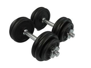 30kg Cast Iron Dumbbell Set