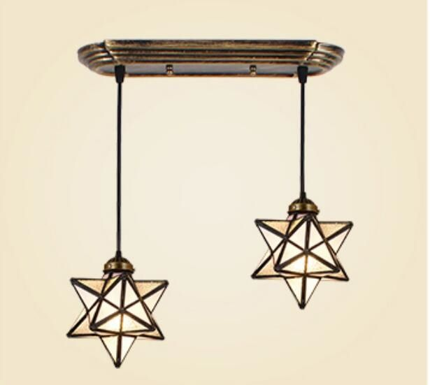 79.99$  Buy here - http://ali0ka.shopchina.info/1/go.php?t=32795848255 - Mediterranean industrial wind pendant light creative dining room simple living room dining aisle Bar Glass Star pendant lamp 79.99$ #magazine
