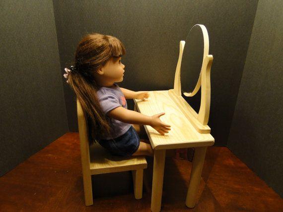 Coiffeuse pour poupées de 18 pouces 0136 par ToysByJohn sur Etsy