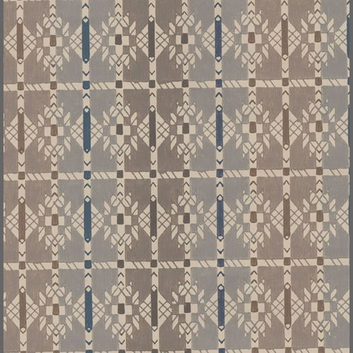 Early Americana brown and grey ethnic wallpaper: 520571 | Clearance Wallpaper
