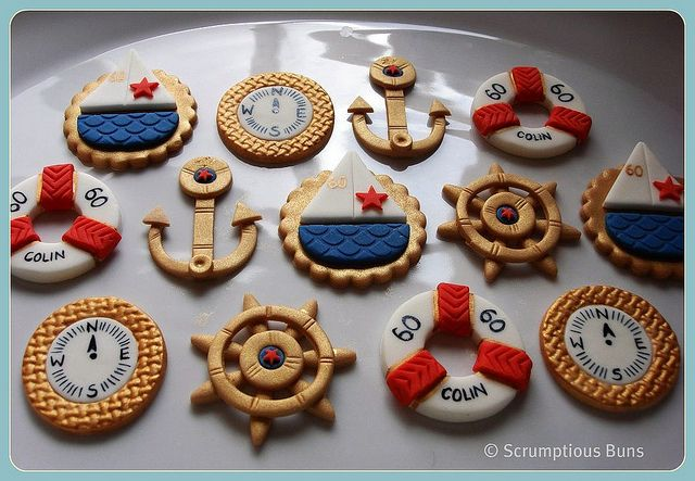 Nautical Cupcake Toppers by Scrumptious Buns (Samantha), via Flickr