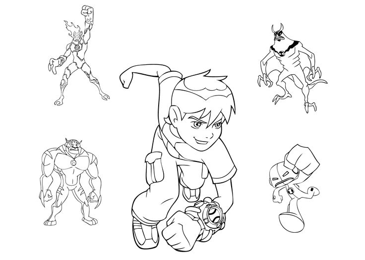 Ben Ten Coloring Pages For Kids Free Printable