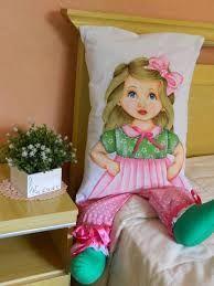 Resultado de imagen para almofada de boneca pintada solana salmia