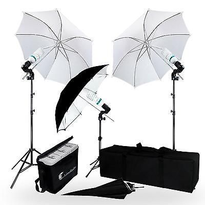 Photography Video Lighting Kit Continuous Umbrella Studio Photo Carrying Case