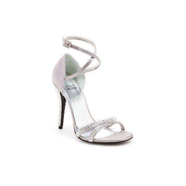 Scarpe da sposa Stuart Weitzman, stiletti e tacco gioiello nella... ❤ liked on Polyvore featuring shoes, stuart weitzman and stuart weitzman shoes