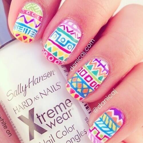 tribal nail design ideas