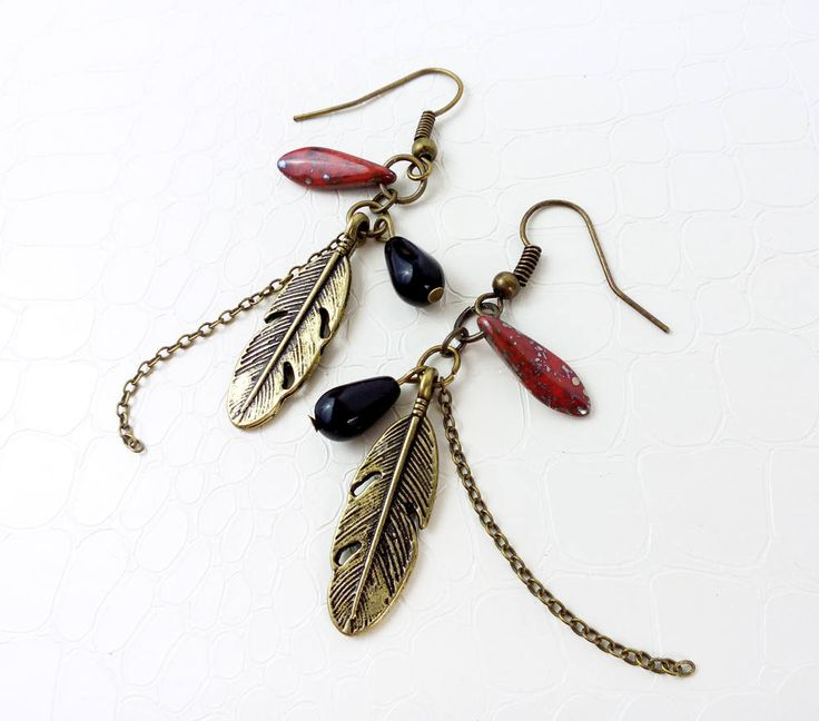 Ethnic earrings by MercysFancy on Etsy