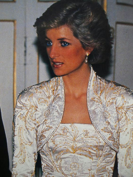 November 7, 1988: Prince Charles and Princess Diana at a Banquet at the Palais De L'Elysee in Paris, hosted by President Francois Mitterrand and his wife Danielle..