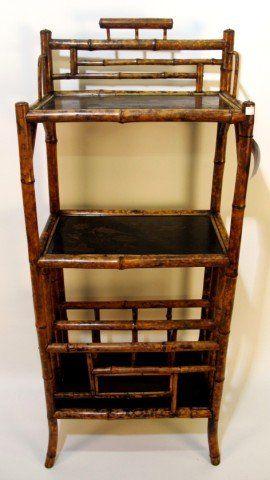 BAMBOO CANTERBURY: With Magazine Rack In Bottom Shelf And Bird Motif On  Shelves. Bamboo FurnitureAntique FurnitureMagazine RacksTortoise ...