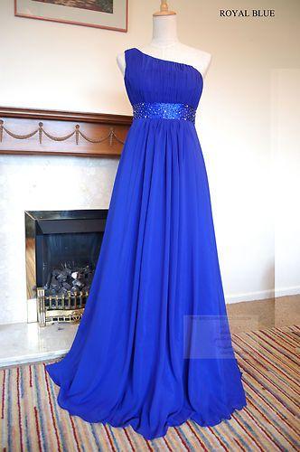 Royal Blue Chiffon Party Wedding Bridesmaid Dress 8-20 | eBay