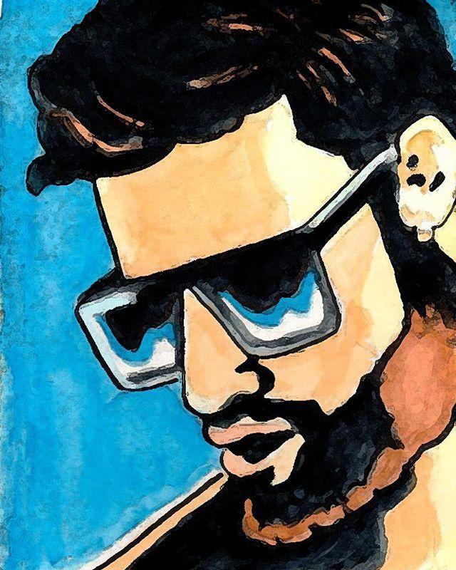 Ray [sunglasses or nothing] #avresdesign #Gayillustration #GayArt #Beard