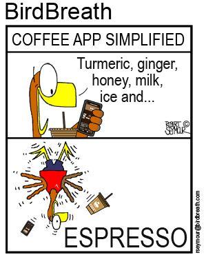 Coffee App Simplified!!! #birdbreath #birdcartoon #coffee #caffeine