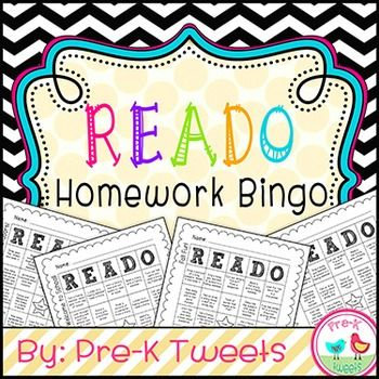 Homework Bingo! 20 themed literacy homework bingo pages are included in this pack! This is a HUGE collection of fun nightly literacy activities for parents and students to do together all throughout the year!