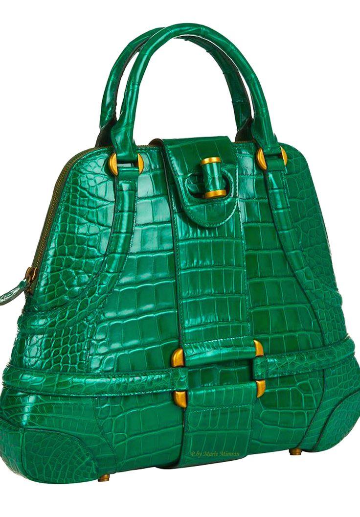 Alexander McQueen Crocodile Novak Bag