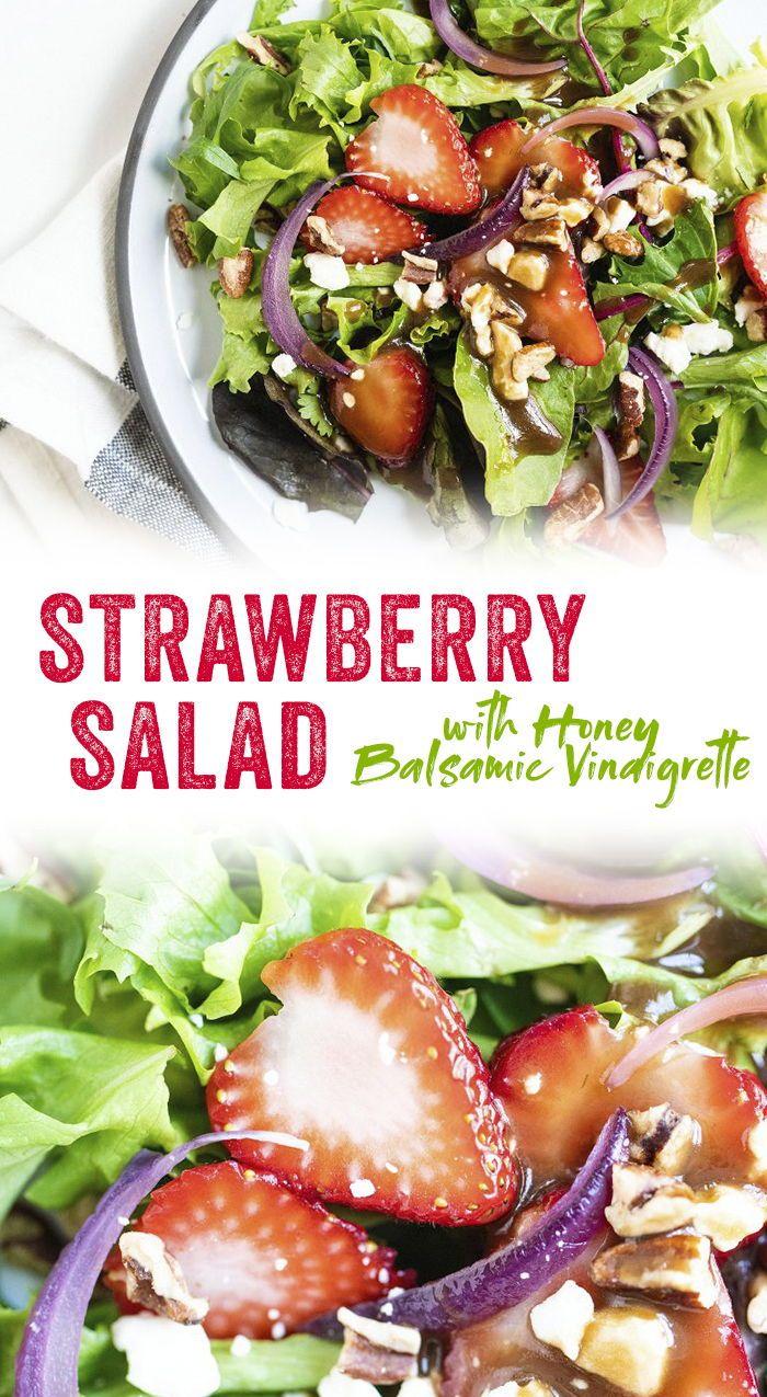 Strawberry Salad With Balsamic Vinaigrette A Couple Cooks Recipe Strawberry Salad Strawberry Salad Recipe Recipes