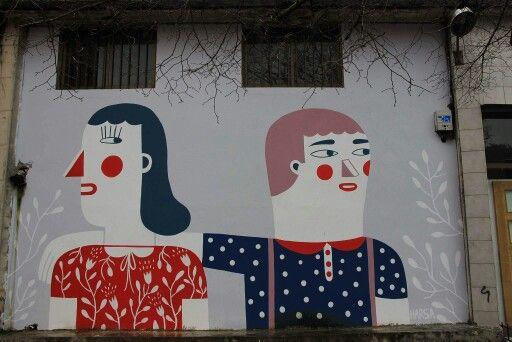#Donostia - San Sebastian, #BasqueCountry #streetart #SanSebastian Photo by M.Raniszewski