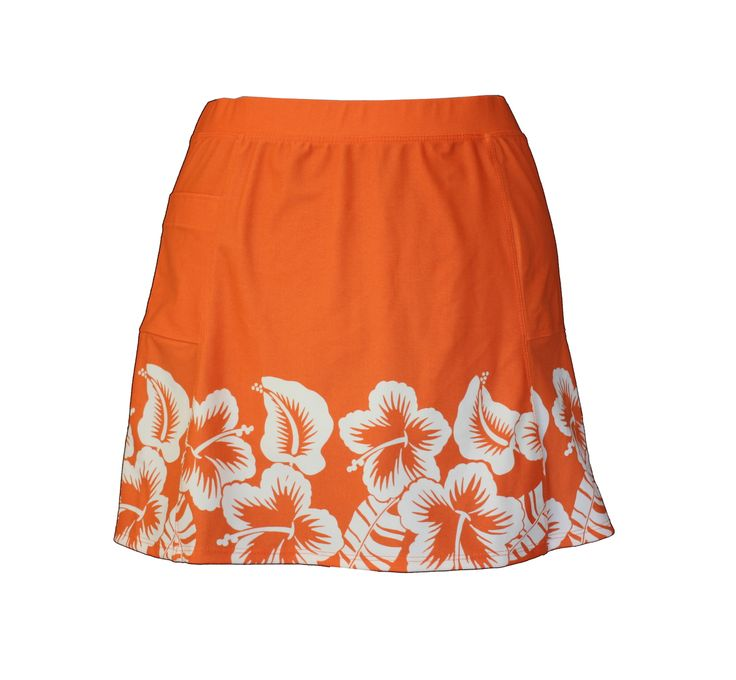 Lady Golfwear - Flirty Summer Skirt in Hibiscus, $32.00 (http://www.ladygolfwear.com.au/flirty-summer-skirt-in-hibiscus/)