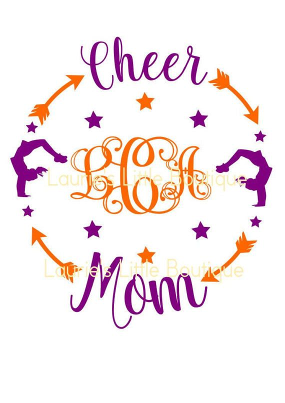 Cheer Mom Monogram File Svg Png Jpg And Silhouette Svg