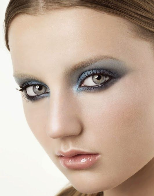 metallisches Augen Make-up