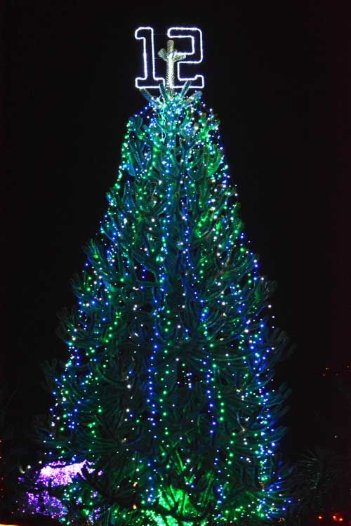 Exit133 - 12th Man tree at Zoolights gives Seahawks fans even more reason to cheer